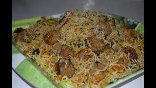Soya biryani   Chunks Biryani recipe - veg Dum pulao cooking Indian style #soyabean