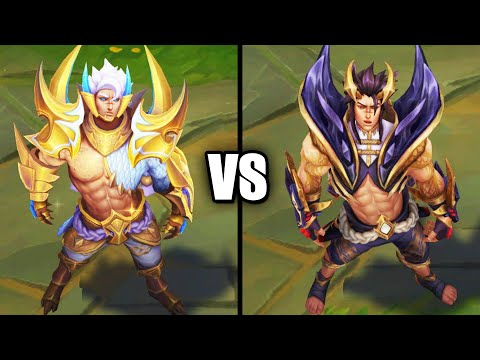 Obsidian Dragon Sett vs Prestige Obsidian Dragon Sett Skins Comparison (League of Legends)