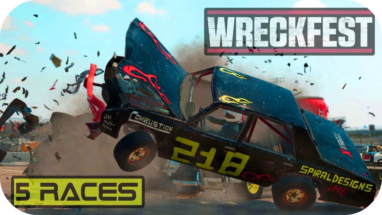 Let's play Wreckfest - 5 Races Gameplay PC STEAM HD