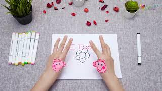 Hướng dẫn bé tập vẽ bông hoa 5 cánh cực kỳ đơn giản