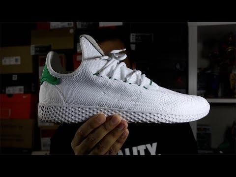 Adidas X Pharrell PW Tennis HU Primeknit White : Green REview!
