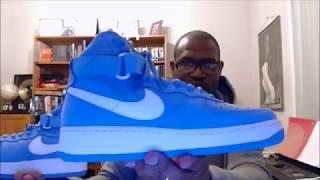 check out 743b7 d89c3 Nike Air Force 1 Hi Retro QS University Blue/Summit White 743546-400