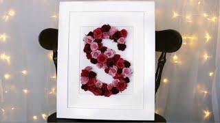 Diy Floral Monogram Picture Frame!   Easy Spring Decor Ideas