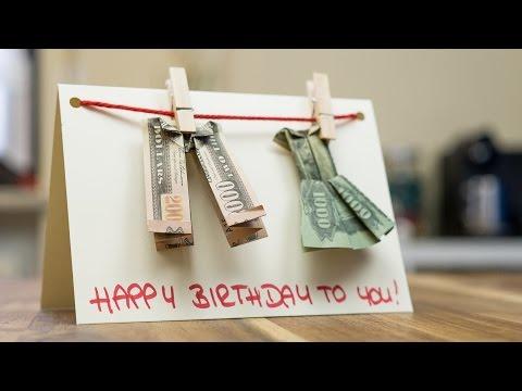 Handmade greeting card for birthdays 🎂 DIY money holder card