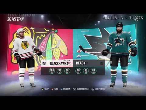 NHL®18 BETA (XBOX One) | Chicago Blackhawks vs. San Jose Sharks | NHL Threes - Full Game #6