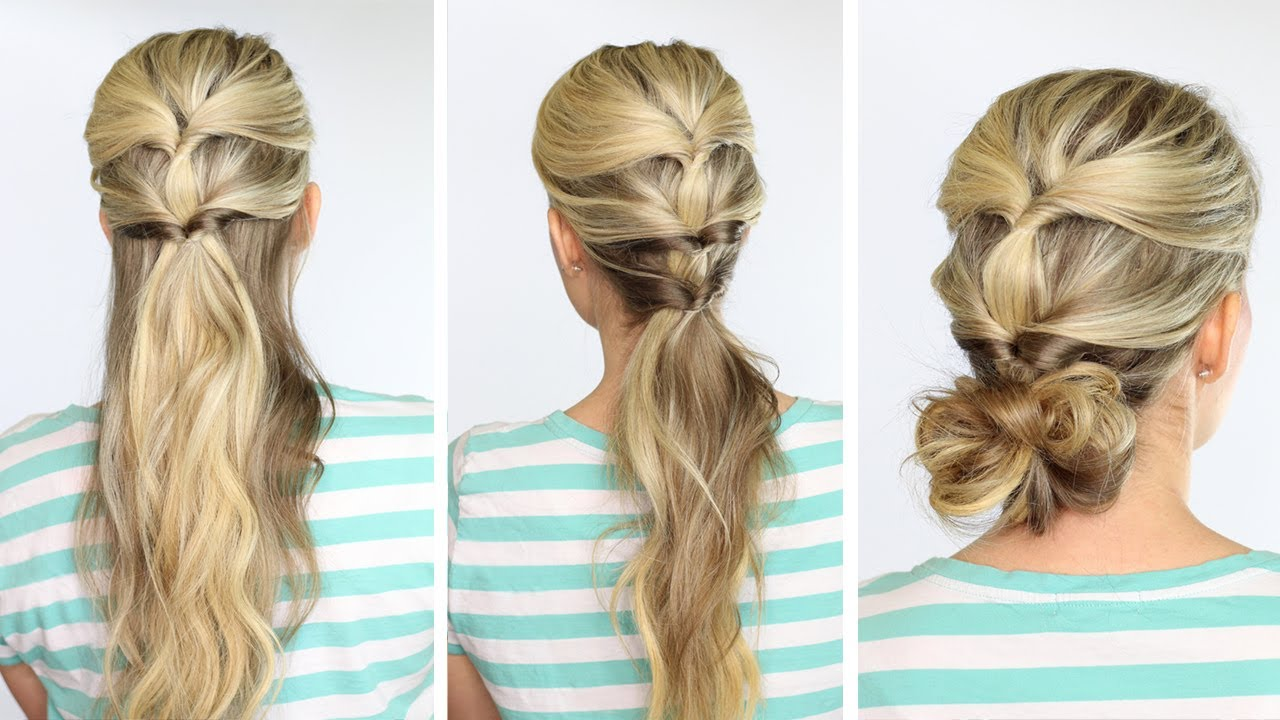 3 summer hairstyles topsytail