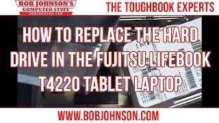 How to replace the Hard drive in the Fujitsu Lifebook T4220 Tablet Laptop