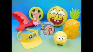 2016 SPONGEBOB SQUAREPANTS SET OF 7 SONIC DRIVE IN KIDS MEAL TOYS VIDEO REVIEW