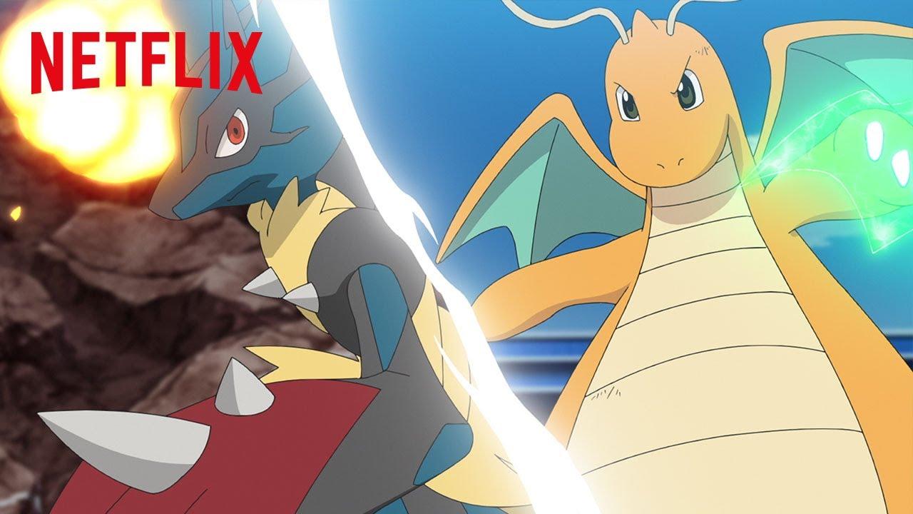 Mega Lucario vs. Dragonite   Pokémon Journeys: The Series   Netflix Futures
