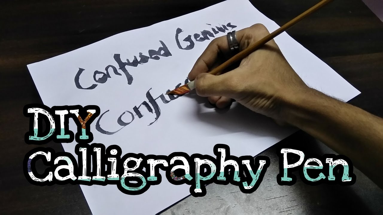 Try it yourself tiy episode diy calligraphy pen