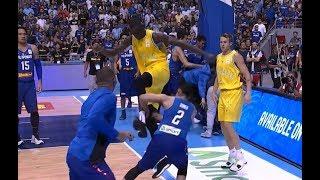 Avustralya - Filipinler basketbol maçında inanılmaz kavga! 👊😱