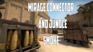CS:GO - Mirage CONNECTOR + JUNGLE Terrorist side smoke