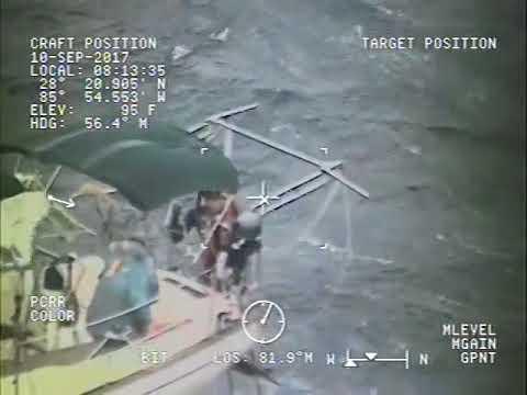 Coast Guard Rescues 2 Boaters, Dog During Hurricane Irma