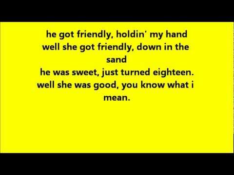 Glee Summer Nights with lyrics