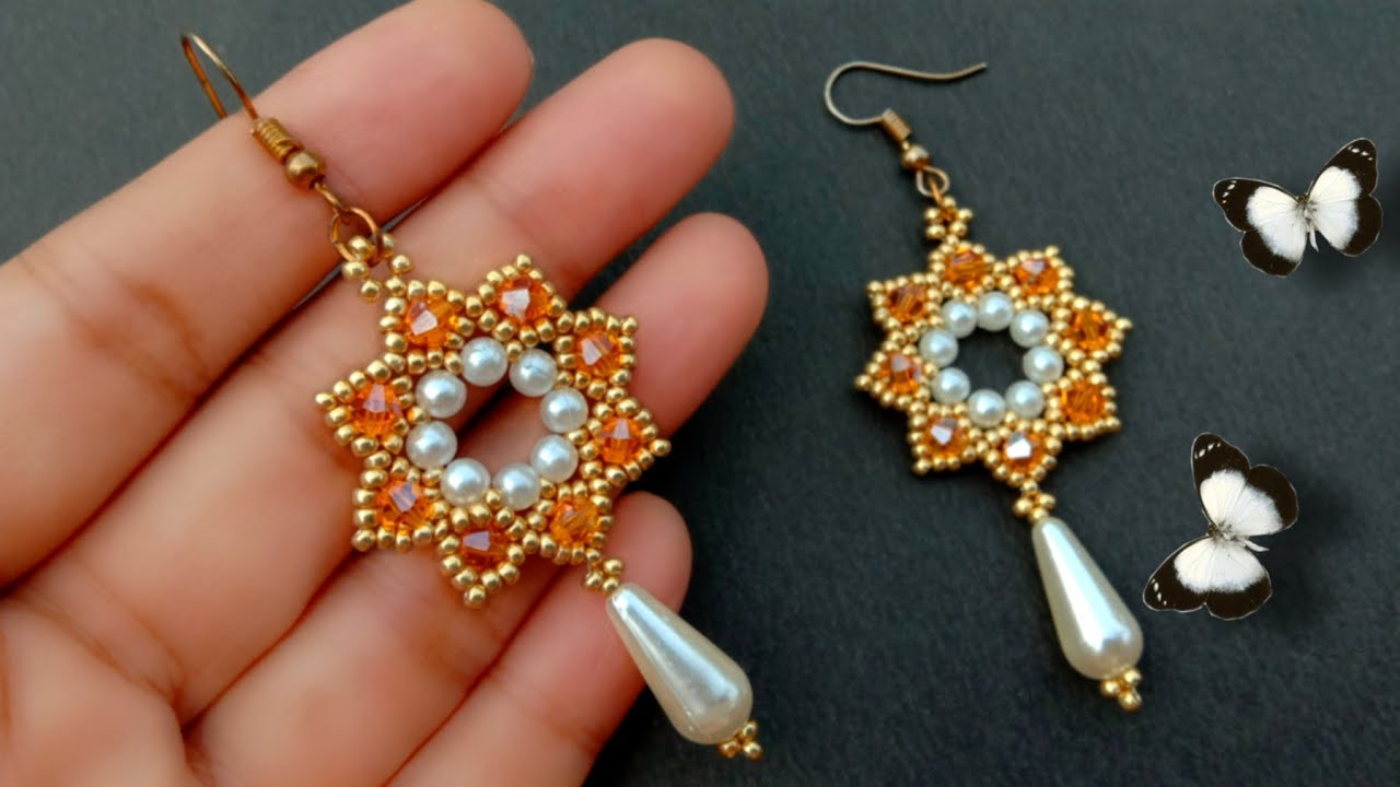 Beaded Earrings Tutorial For Beginners//Beaded Jewelry// Useful & Easy