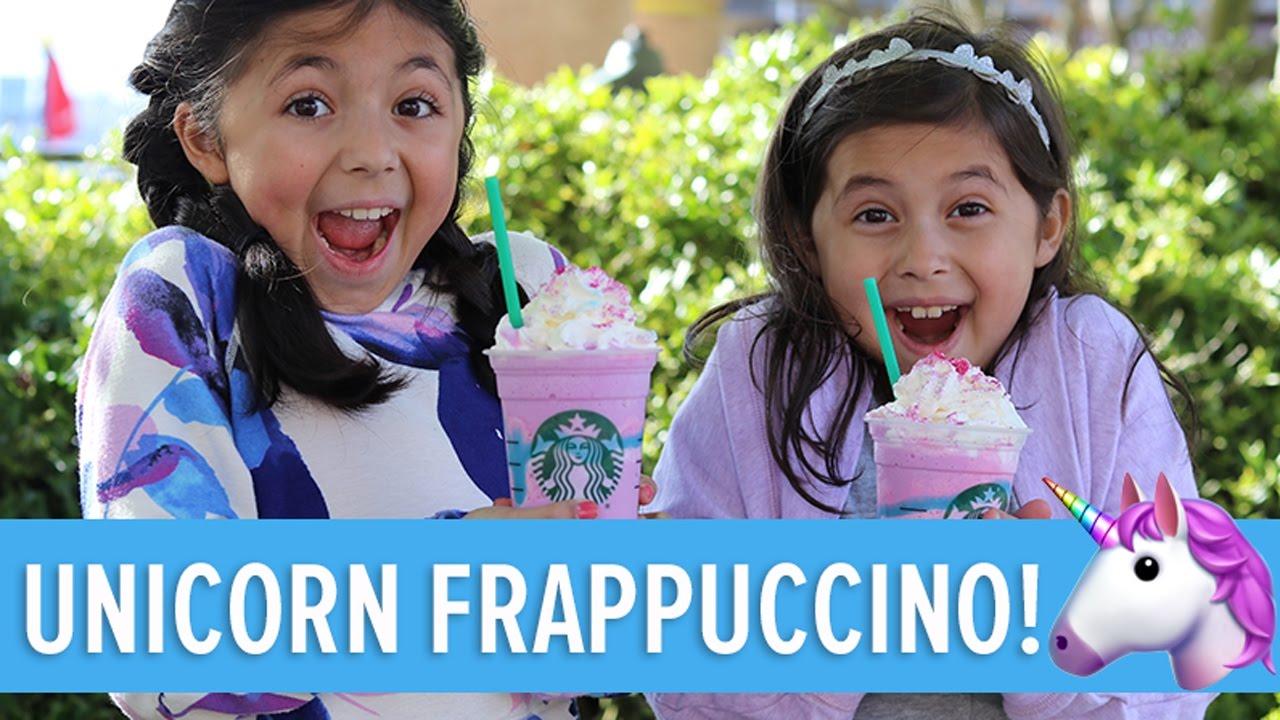 Kids Drink Starbucks Unicorn Frappuccino That Reyes Family Vlog