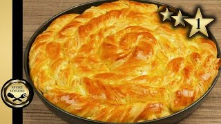 Pie with greek feta cheese - GOLDEN RECIPES