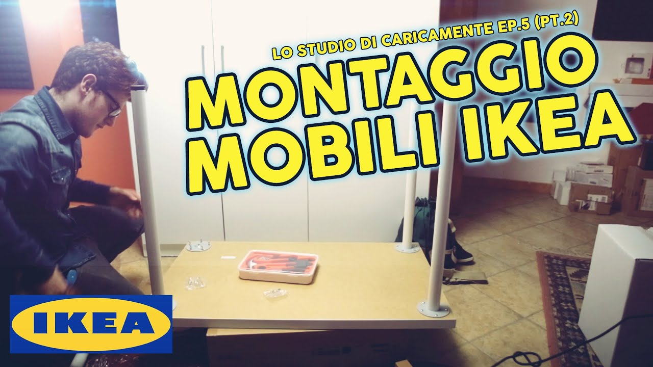 Montaggio mobili ikea lo studio di caricamente ep 5 pt 2 youtube - Mobili studio ikea ...