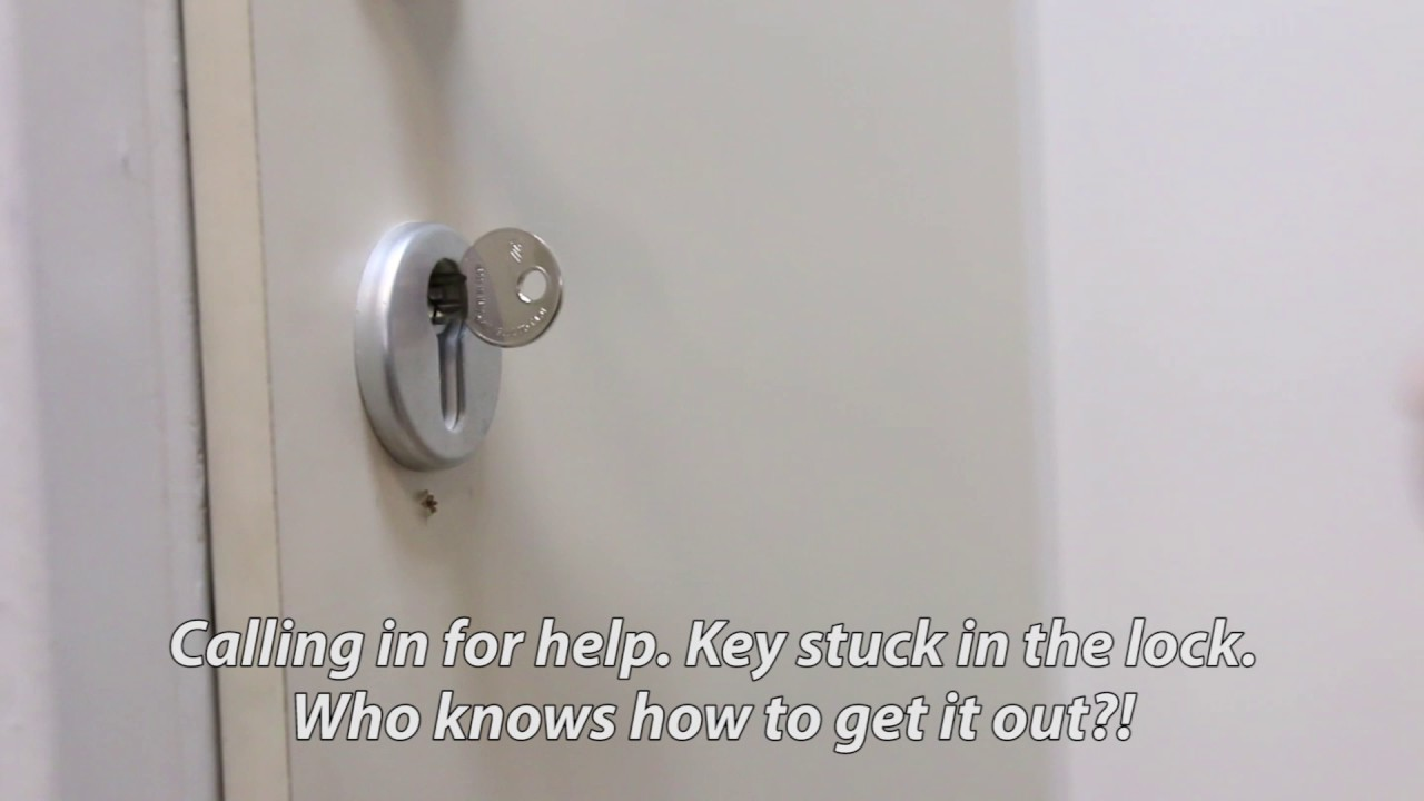 Key is stuck in the lock! How to get it out? - YouTube