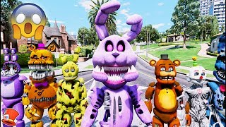 BRAND NEW BONNIE ANIMATRONIC! TWISTED BONNIE! (GTA 5 Mods For Kids FNAF RedHatter)