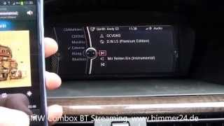 BMW E60 E63 E70 E87 E90 CIC, Combox Bluetooth Streaming Musik übertragen abspielen Android iPhone