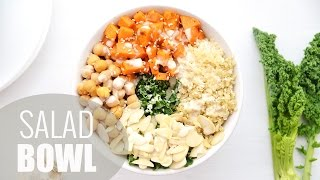 Kale Salad Bowl | Healthy Lunch Ideas