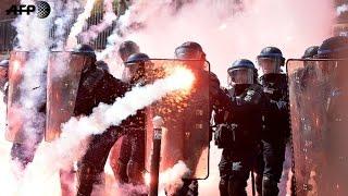 عشرات الجرحى في باريس جراء مواجهات بين الشرطة ومحتجين على قانون العمل في ذكرى عيد العمال
