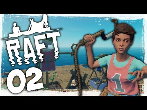 Huge Raft Update! - Ep 02 - Fishing In The Ocean! - Let's Play Raft Gameplay