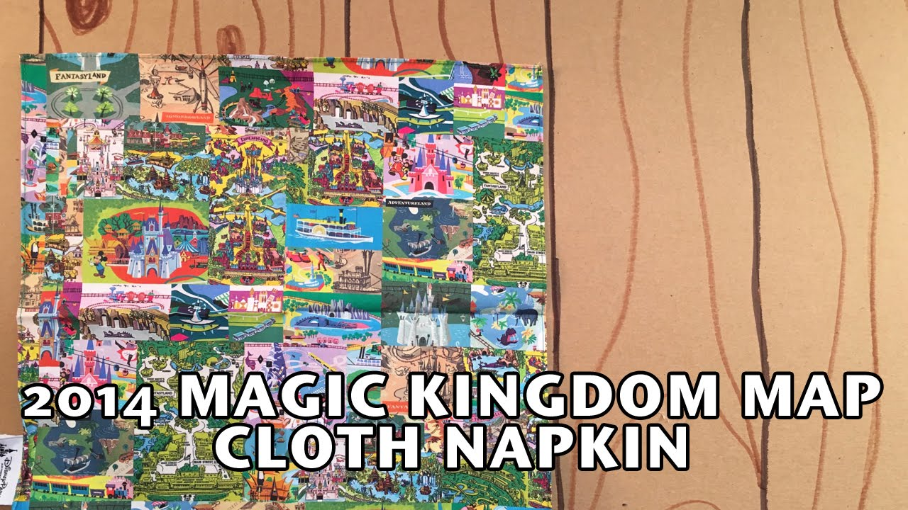 2014 Walt Disney World Magic Kingdom Map Cloth Napkin Country Bear ...