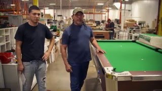 How a Valley Panther Coin Operated Pool Table is made