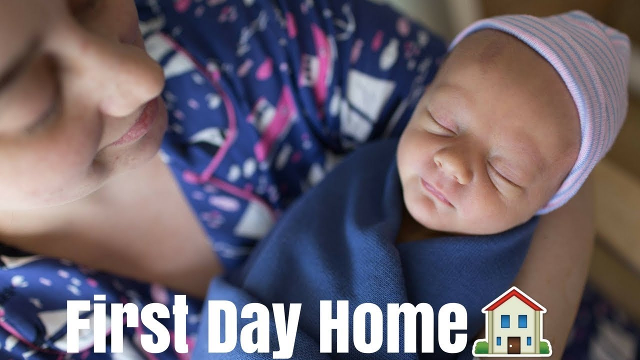 FIRST DAY AT HOME WITH NEWBORN BABY! | Riley Family Vlogs - YouTube
