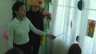 УРОК  ( на казахском яз.) у  дошкольников   13 мая 2016