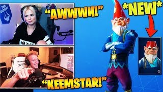 STREAMERS REACT TO *NEW* KEEMSTAR GNOME SKIN IN ITEM SHOP! (Fortnite Stream Highlights)