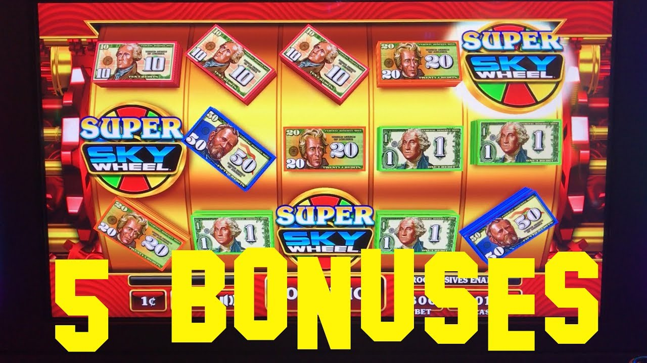 Crazy Money Super Sky Wheel 5 Bonus Rounds At Max Bet 3