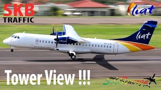 tower view liat atr 72 600 in awesome action st kitts r l b int l airport