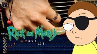 Evil Morty Theme (For the Damaged Coda) Guitar Tutorial | Christianvib TABS
