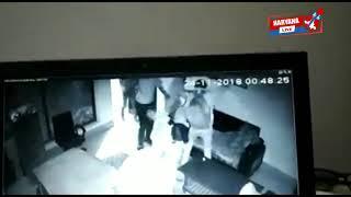 झज्जर में पेट्रोल पंप पर लूट का CCTV वीडियो