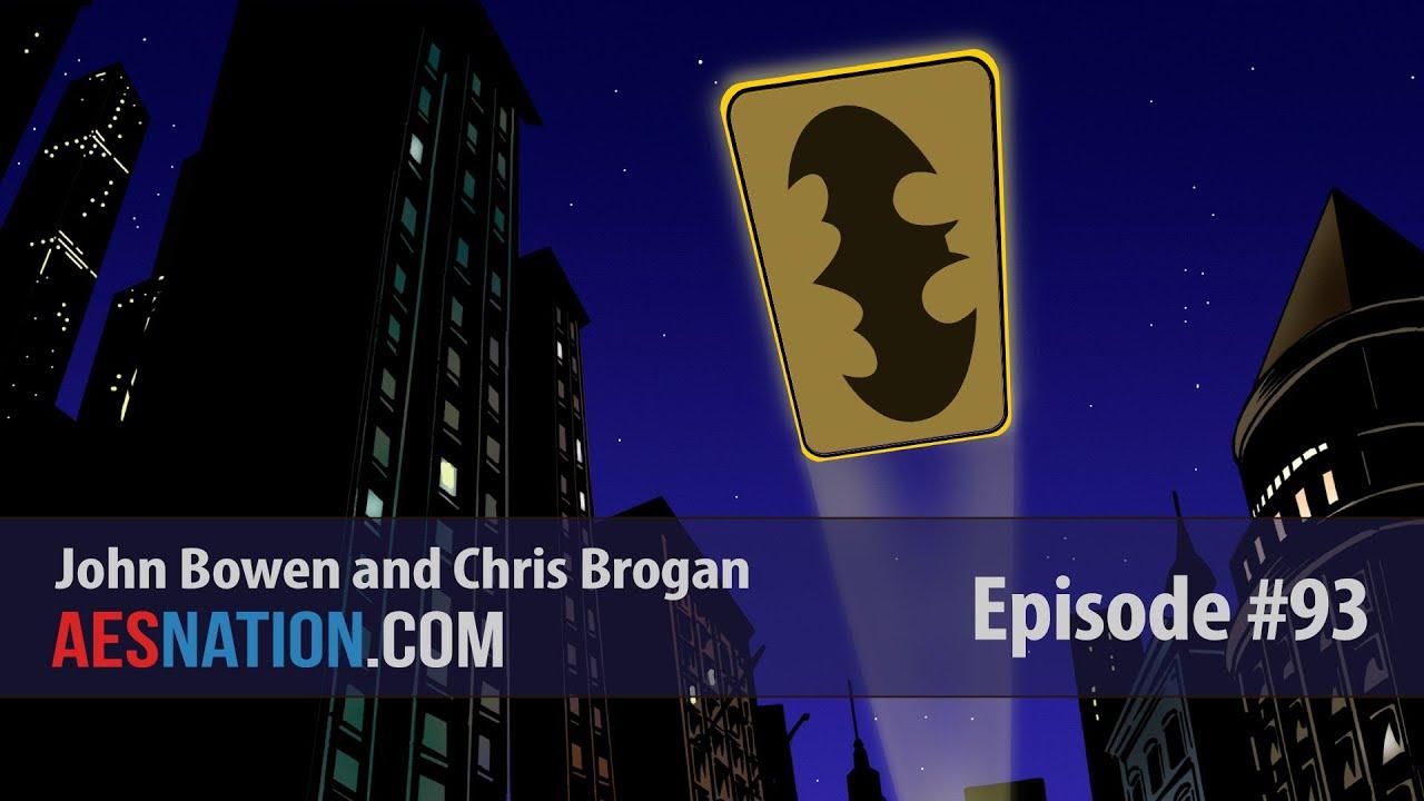 Chris Brogan Shines The Batman Symbol Into The Night Sky And Lights