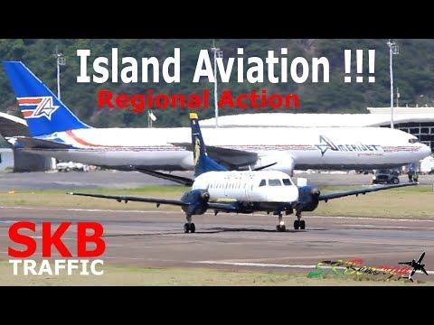 Regional Action !!! Amerijet 767, FedEx Caravan, Seaborne Saab 340....@ St. Kitts Airport