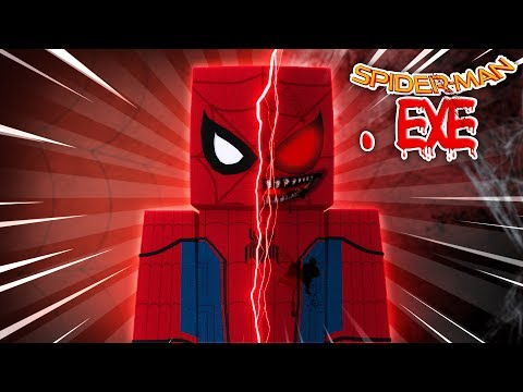 Minecraft SPIDERMAN.EXE HOMECOMING - EVIL SPIDERMAN.EXE HAS COME TO LIFE!! w/LITTLE LIZARD GAMING!!