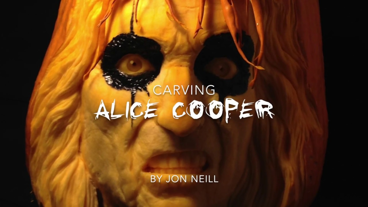 alice cooper the halloween pumpkin carving seen on jimmy kimmel live 2016