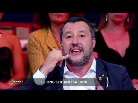 MATTEO SALVINI A QUARTA REPUBBLICA (RETE 4, 08.07.2019)