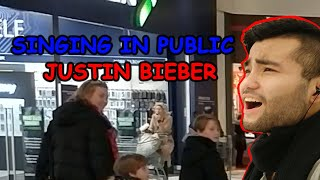 SINGING IN PUBLIC - Justin Bieber - As long as You love Me