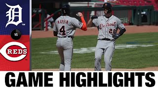 C.J. Cron hits clutch homer to lead Tigers   Tigers-Reds Game Highlights 7/26/20