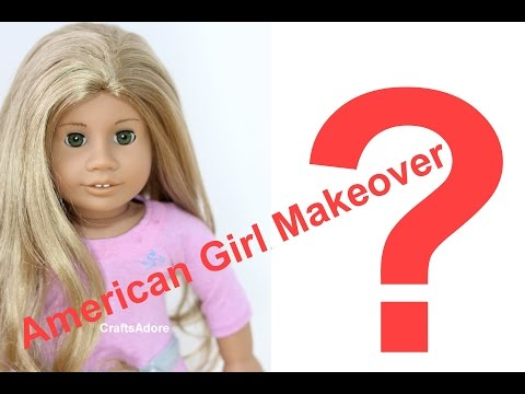 American Girl Doll Makeover ~ JLY #26 'Addy' Mold Plays Wigs Swap ~ Custom American Girl Doll