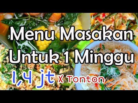 #MamaAbidah                                           Menu Masakan Sehari Hari Untuk 1 Minggu