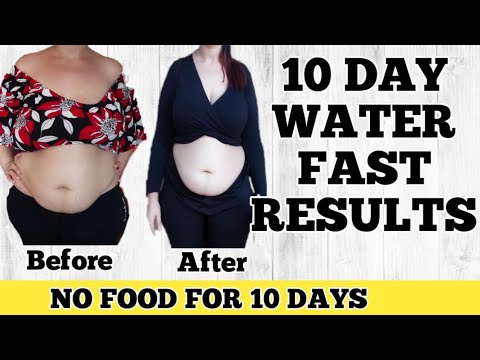 10 Day Water Fast Results/No food for 10 days (how to lose weight)