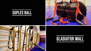 Strength & Conditioning Team Workout using the Suples Ball and the Gladiator Wall