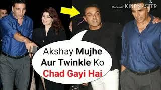 Twinkle Khanna And Bobby Deol DRUNK At Akshay Kumar Birthday Party 2018