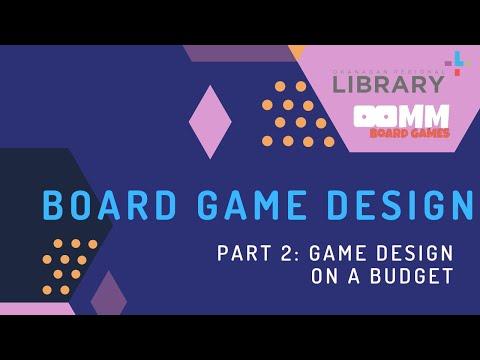 Board Games Design Workshop Part 2 Game Design On A Budget Youtube